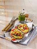 Pesto-Kartoffeln mit Paprika