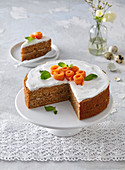 Eater carrot cake with nuts