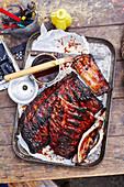 Texanische Smoked Ribs mit Barbecuesauce