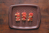 Chicken and Peppers Brochettes prepare