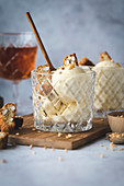 Vin Santo ice cream with almond brittle and homemade cantuccini