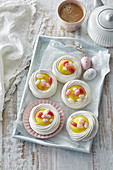 Meringue Easter nests