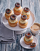Cupcakes with mini donuts
