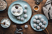 Chokladbollar (chocolate balls with desiccated coconut, Sweden)