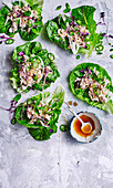 Turkey larb lettuce cups