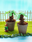 'Succulent garden' - money tree cake
