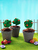 'Succulent garden' - topiary tree cake