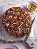 Greek sticky cake with nuts