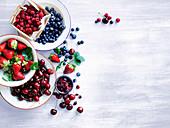 Summer berries and cherries