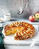 Apfeltorte mit Mandeln