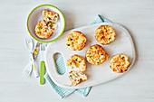 Mini egg and veg muffins
