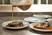 Miso sticky toffee pudding