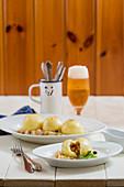Gram dumplings on sauerkraut