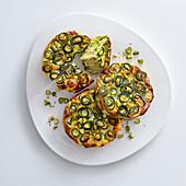Courgette and pistachio frittata