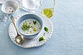 Yogurt soup with cucumber
