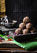 Flattened rice and coconut ladoo