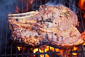 Steak on BBQ