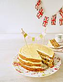 Bourbon-Karottenkuchen für eine königliche Tea Party (England)
