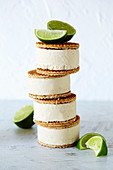 Key Lime Pie Coco-Cream ice sandwiches