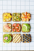 Vegan Kitchen nut and seed butter breads with fruits