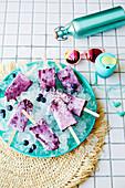 Vegane Blaubeer-Pie Icepops