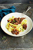 Hare stew with pappardelle