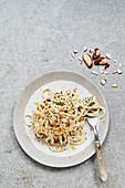 Winter celeriac pasta with pecan nuts