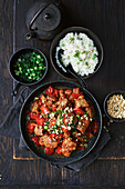 Slow-cooker Kung Pao chicken with red capsicum
