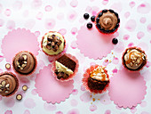 Cupcakes with sweets