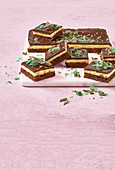 Peppermint crisp cheesecake brownie