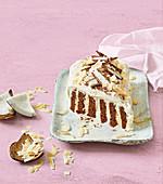 Bounty chocolate ripple fridge cake