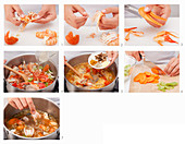 Preparing Bavarian fish soup