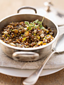 Sweet and sour lentil medley