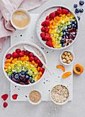 Regenbogen-Porridge