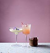 White rabbit, chocolate martini, rhubarb spritz