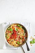 Easy hoisin pork and noodle stir-fry