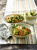 Rice noodles with vegetable curry