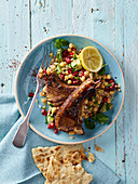 Lamb cutlets with pomegranate