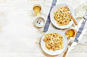 Amalfi lemon, chilli and anchovy spaghetti