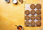 Karamellisierte Honig-Tahini-Kekse