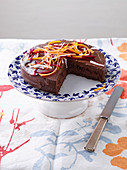 Carrot and chocolate cake