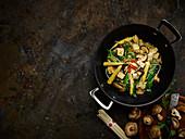 Shiitake mushroom and tofu stir fry