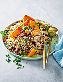 Pearl couscous with roasted butternut