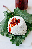 Goat's cheese ricotta with preserved chillis
