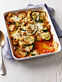 Courgette and mozzarella melts