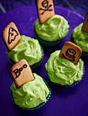 Grabstein Cupcakes zu Halloween