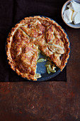 Apple and Lancashire cheese pie