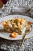 Prawn and artichoke lasagne