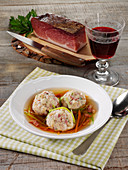 South Tyrolean bacon dumpling soup
