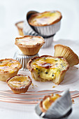 Caramelized passion fruit sour cream tartlets with nutmeg